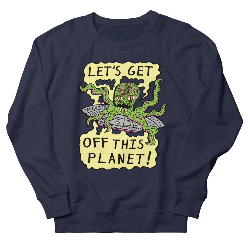 Alien UFO Escape Men's Sweatshirt by JARHUMOR