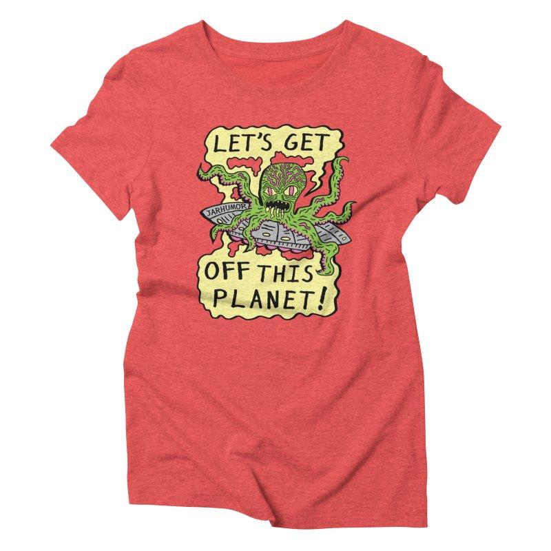 Alien UFO Escape Women's Triblend T-shirt by James A. Roberson (JARHUMOR)