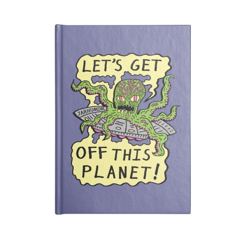 Alien UFO Escape Accessories Notebook by JARHUMOR