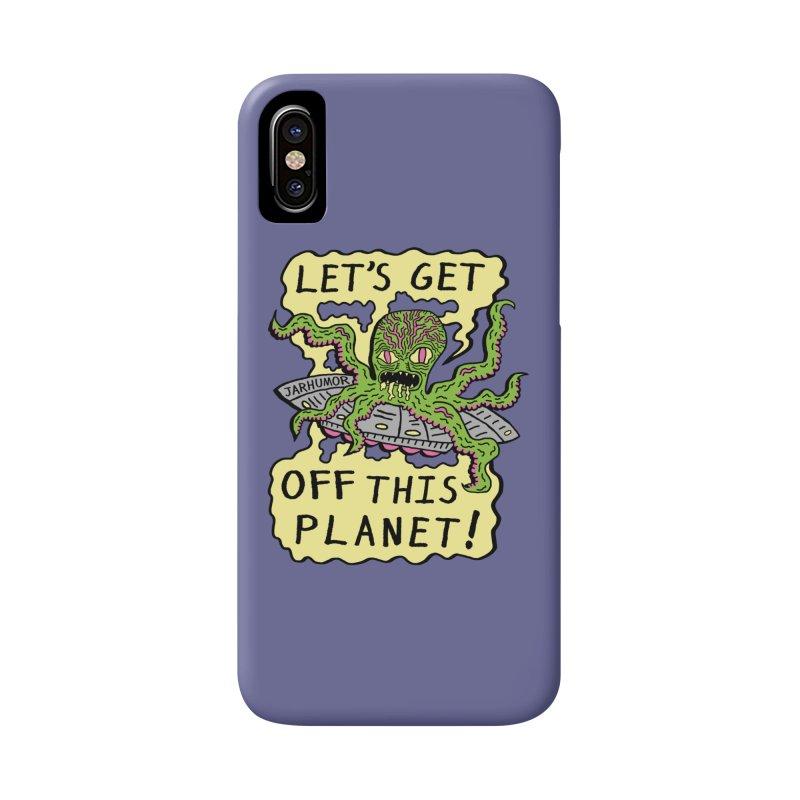 Alien UFO Escape Accessories Phone Case by James A. Roberson (JARHUMOR)