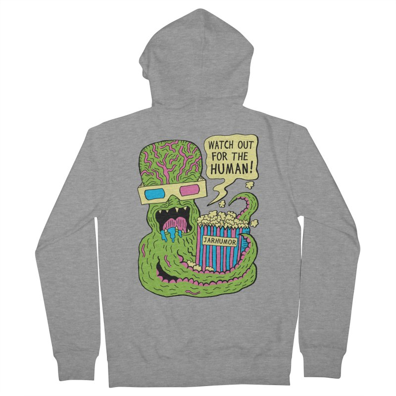 Alien Monster Movie Women's Zip-Up Hoody by James A. Roberson (JARHUMOR)