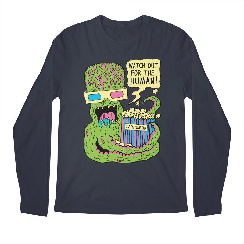 Alien Monster Movie Men's Regular Longsleeve T-Shirt by JARHUMOR