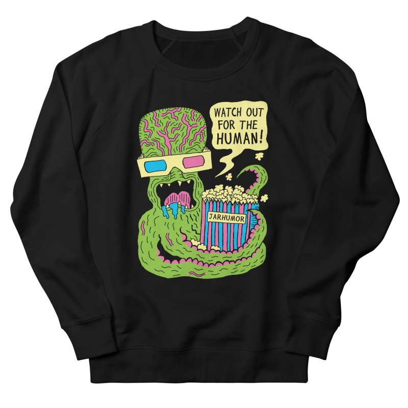 Alien Monster Movie Men's Sweatshirt by JARHUMOR