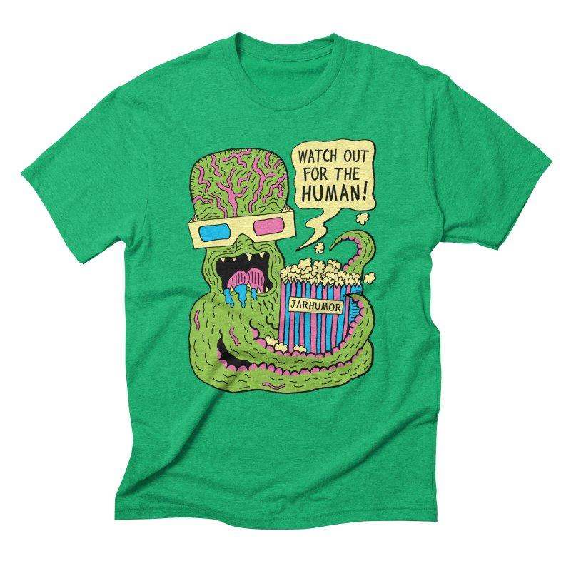 Alien Monster Movie Men's Triblend T-Shirt by JARHUMOR