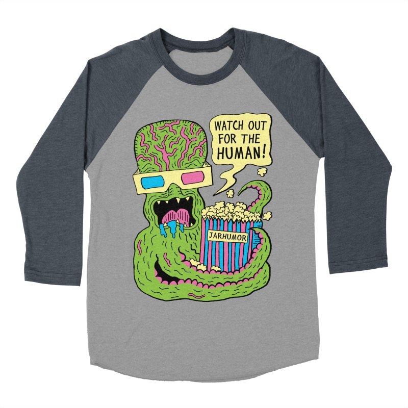 Alien Monster Movie Women's Baseball Triblend T-Shirt by JARHUMOR