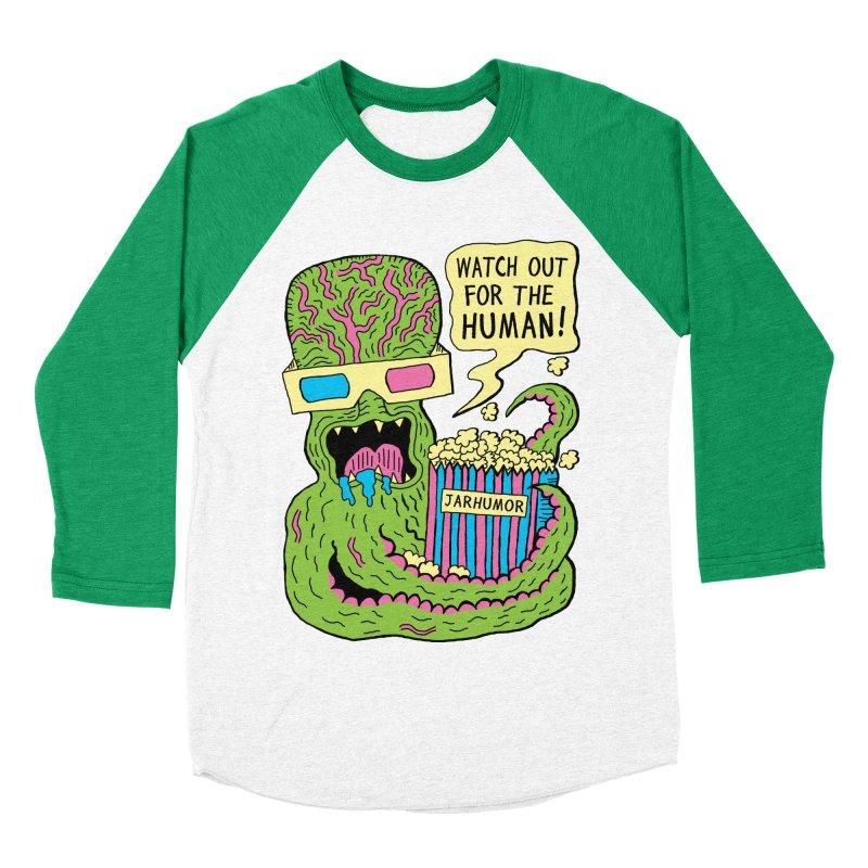 Alien Monster Movie Men's Baseball Triblend T-Shirt by James A. Roberson (JARHUMOR)