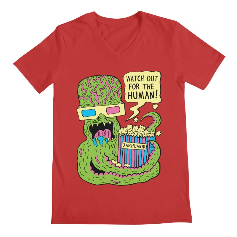 Alien Monster Movie Men's V-Neck by James A. Roberson (JARHUMOR)