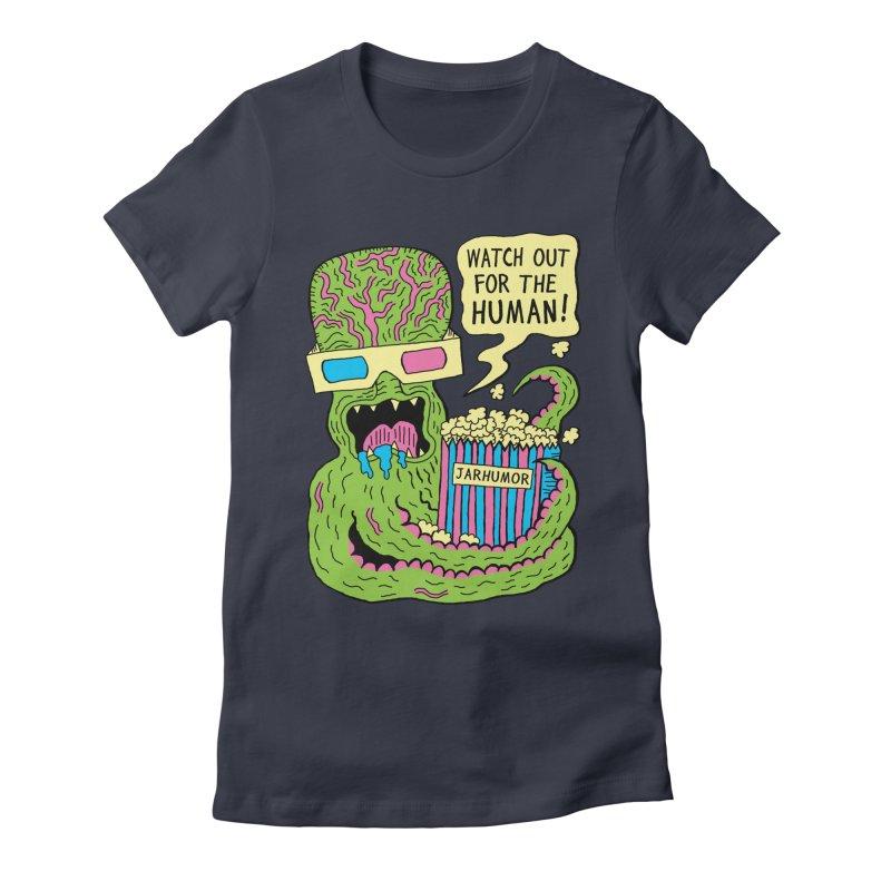 Alien Monster Movie Women's Fitted T-Shirt by JARHUMOR