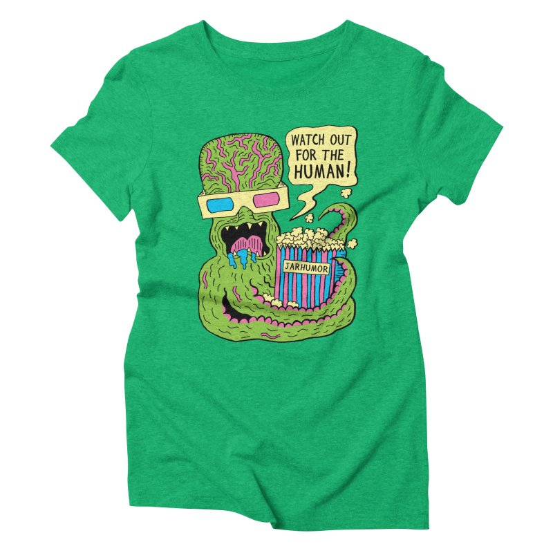 Alien Monster Movie Women's Triblend T-Shirt by JARHUMOR