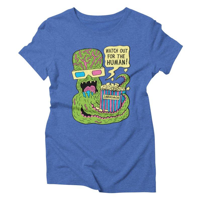 Alien Monster Movie Women's Triblend T-shirt by James A. Roberson (JARHUMOR)