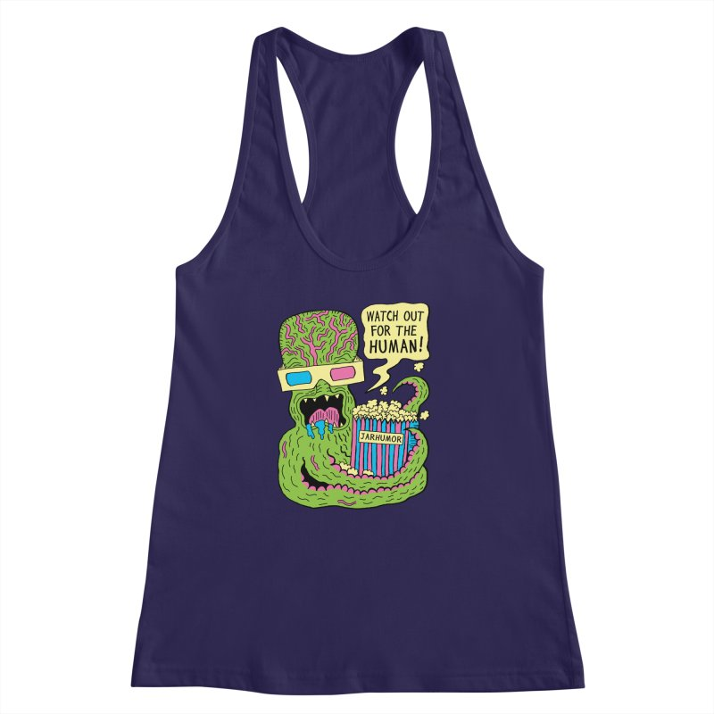 Alien Monster Movie Women's Racerback Tank by JARHUMOR