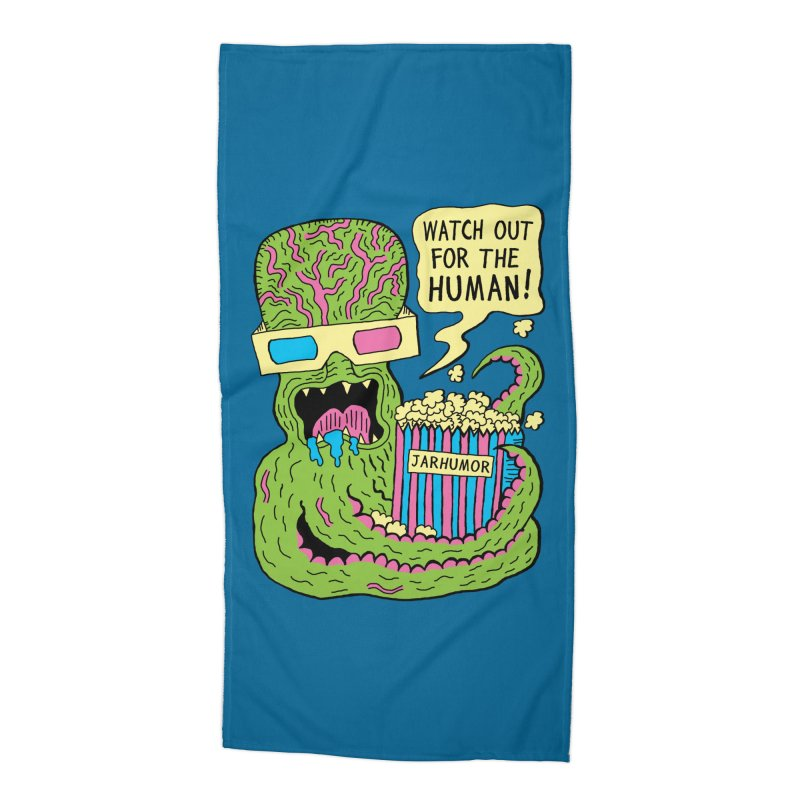 Alien Monster Movie Accessories Beach Towel by JARHUMOR
