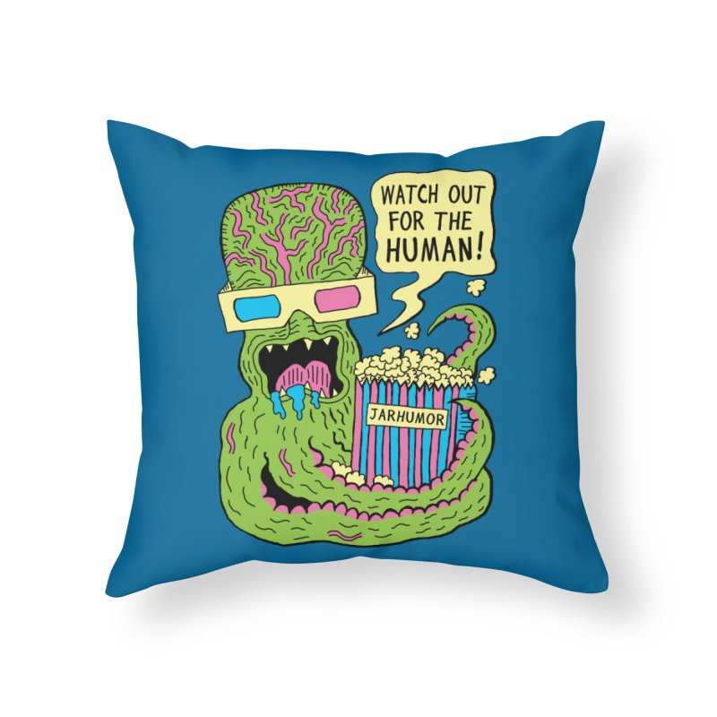 Alien Monster Movie Home Throw Pillow by JARHUMOR
