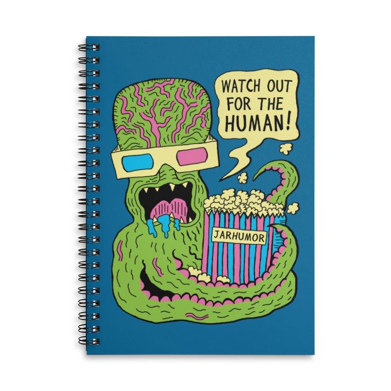 Alien Monster Movie Accessories Lined Spiral Notebook by JARHUMOR