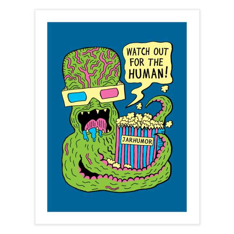 Alien Monster Movie Home Fine Art Print by JARHUMOR