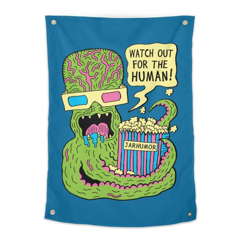 Alien Monster Movie Home Tapestry by JARHUMOR