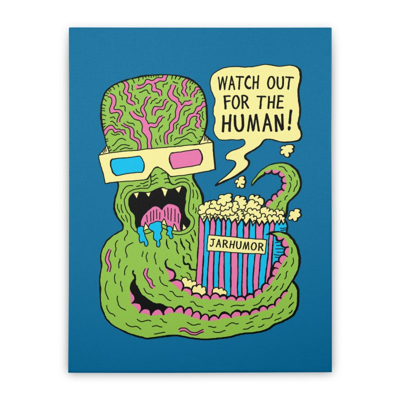 Alien Monster Movie Home Stretched Canvas by JARHUMOR