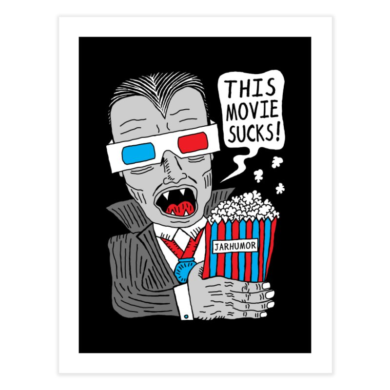 This Movie Sucks Home Fine Art Print by James A. Roberson (JARHUMOR)