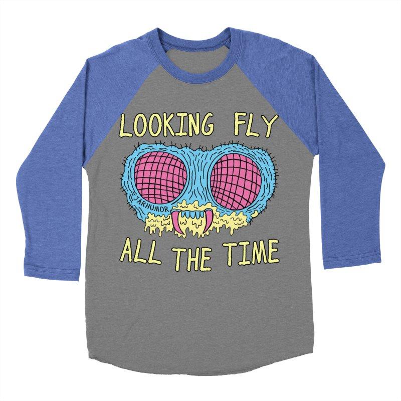 Looking Fly Women's Baseball Triblend T-Shirt by JARHUMOR