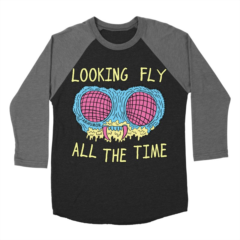 Looking Fly Men's Baseball Triblend T-Shirt by James A. Roberson (JARHUMOR)