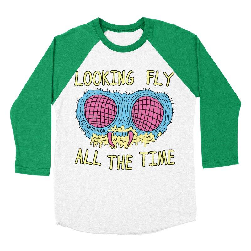 Looking Fly Men's Baseball Triblend Longsleeve T-Shirt by JARHUMOR