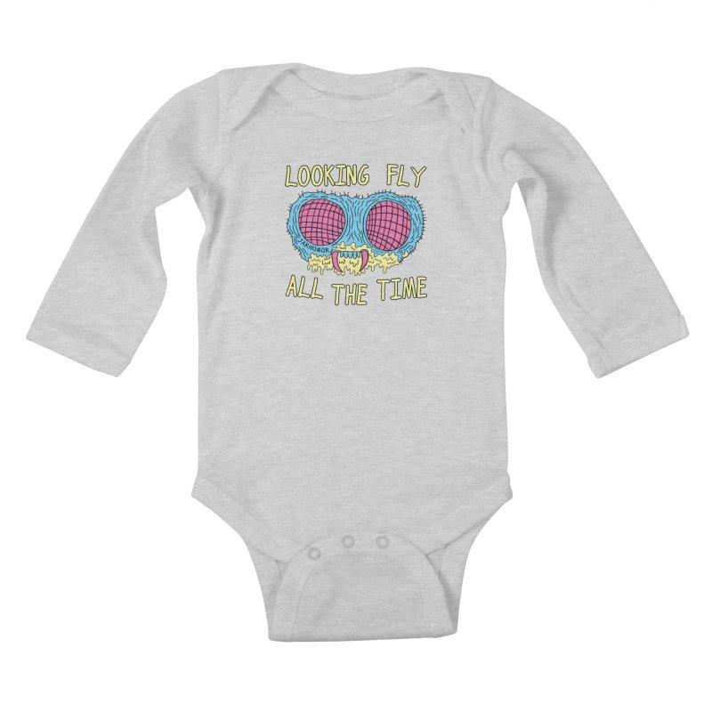 Looking Fly Kids Baby Longsleeve Bodysuit by JARHUMOR