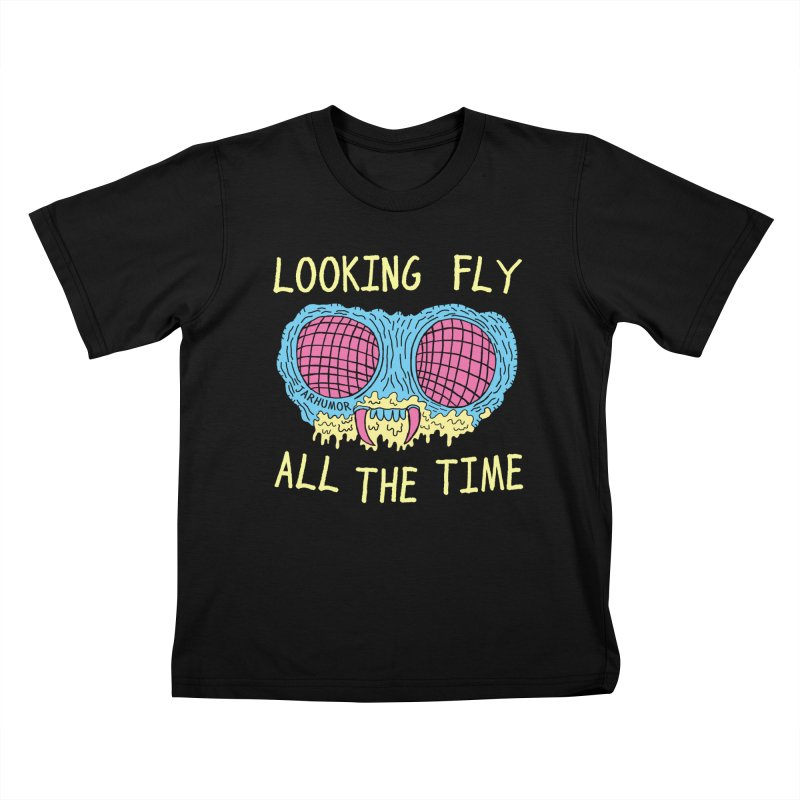 Looking Fly Kids T-Shirt by JARHUMOR