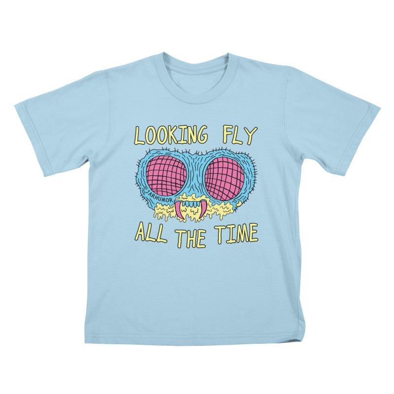 Looking Fly Kids T-Shirt by JARHUMOR