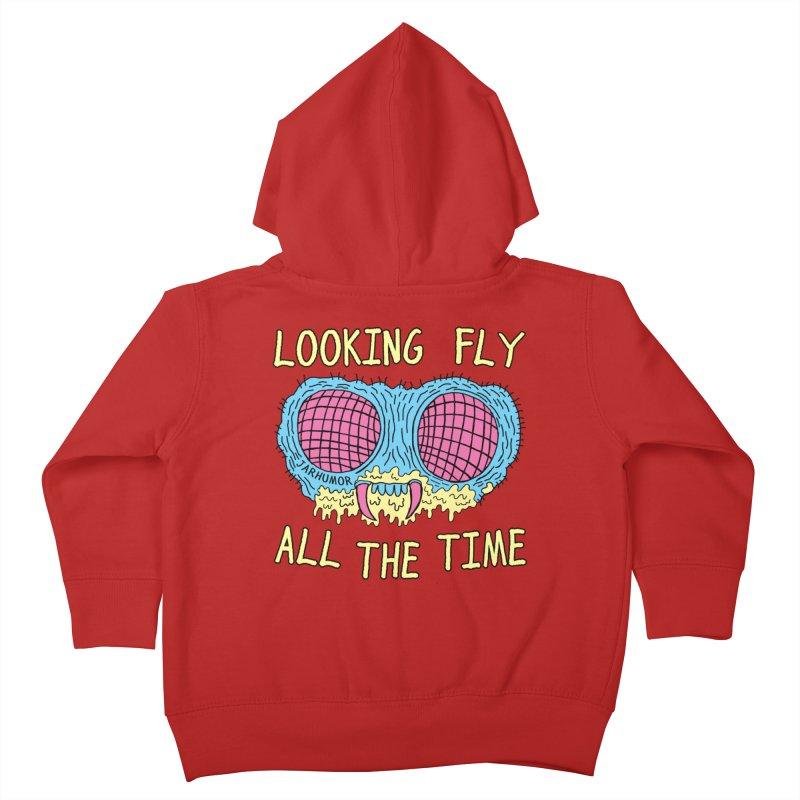 Looking Fly Kids Toddler Zip-Up Hoody by James A. Roberson (JARHUMOR)