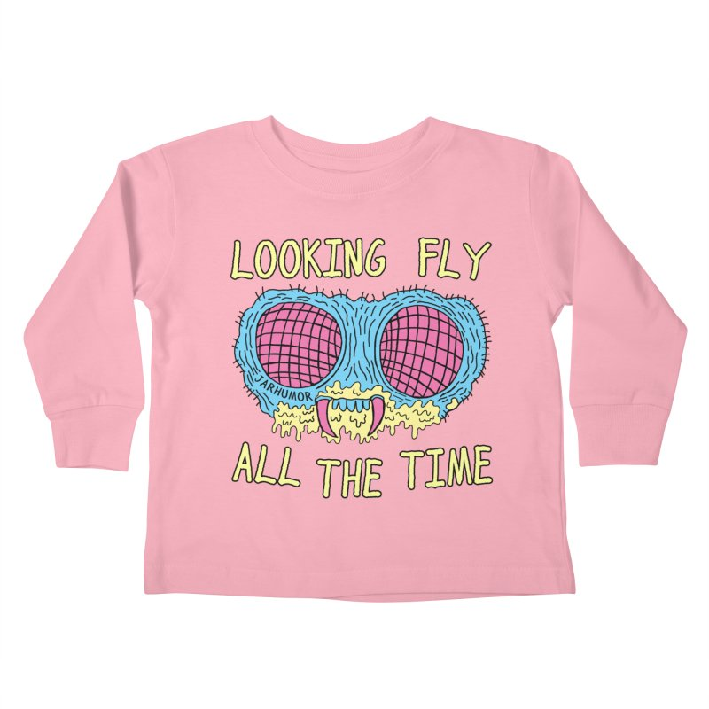 Looking Fly Kids Toddler Longsleeve T-Shirt by JARHUMOR