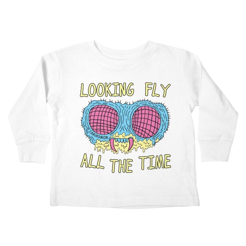Looking Fly Kids Toddler Longsleeve T-Shirt by JARHUMOR