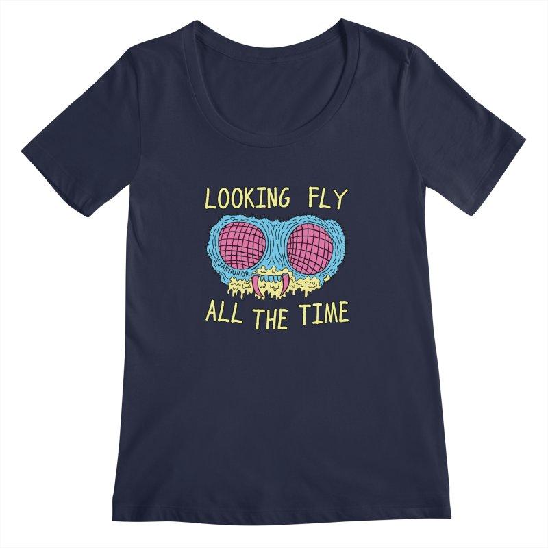 Looking Fly Women's Scoopneck by JARHUMOR