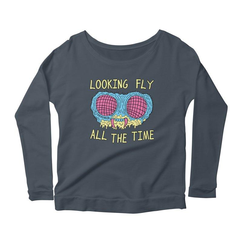 Looking Fly Women's Longsleeve Scoopneck  by JARHUMOR