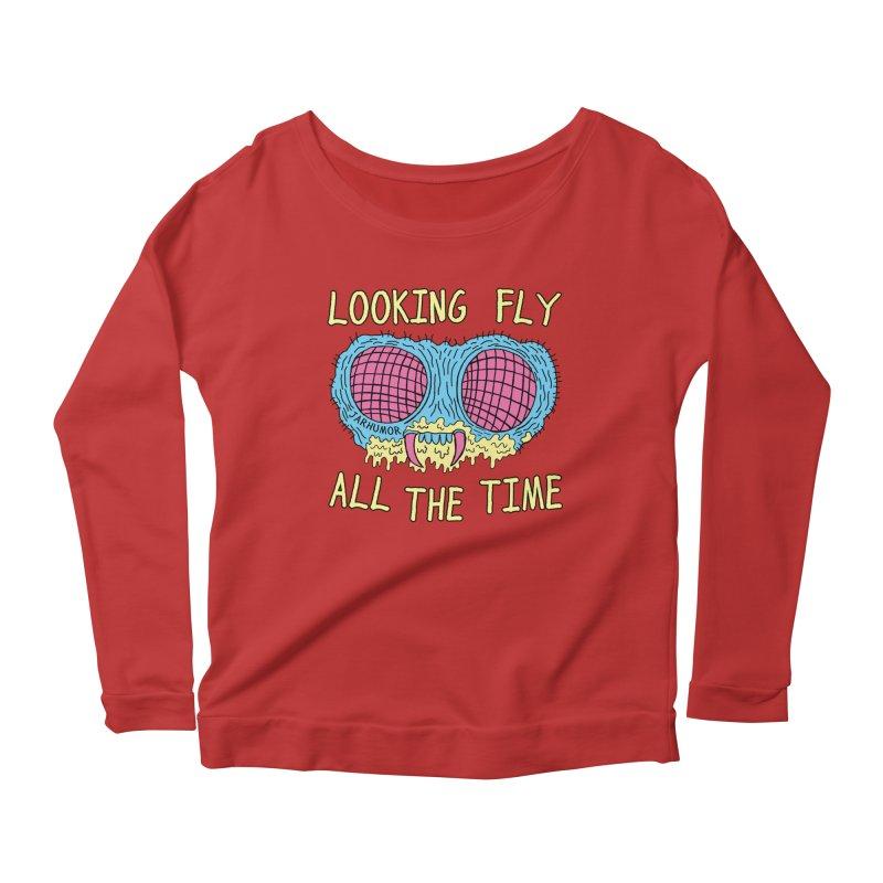Looking Fly Women's Scoop Neck Longsleeve T-Shirt by JARHUMOR