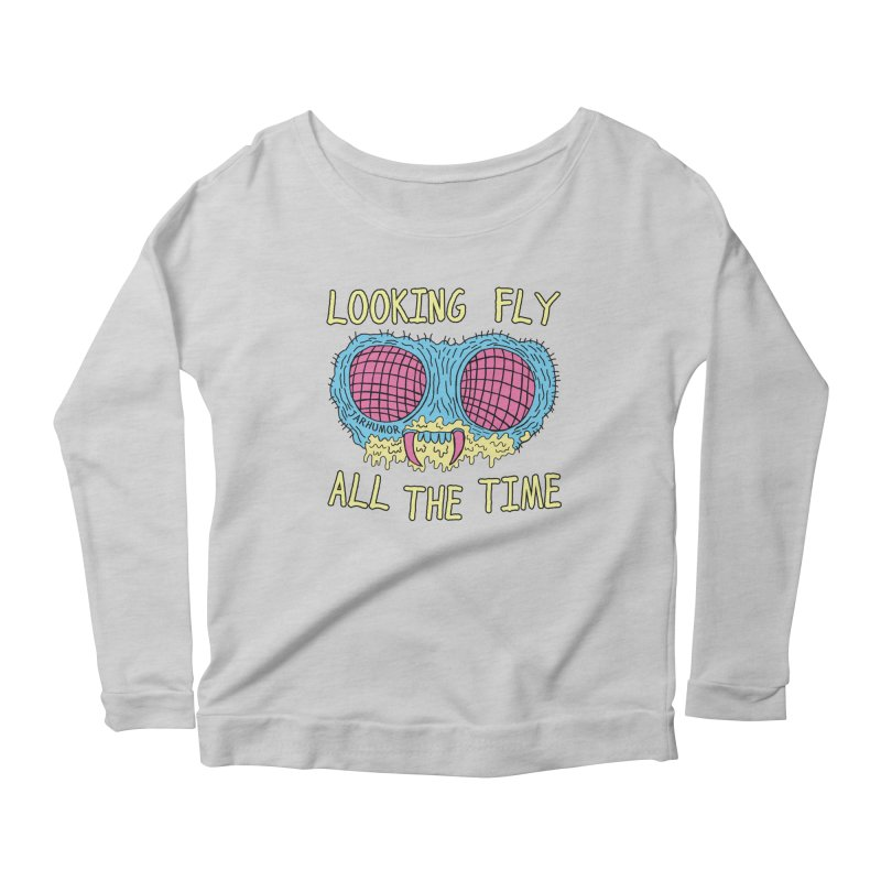 Looking Fly Women's Scoop Neck Longsleeve T-Shirt by JARHUMOR