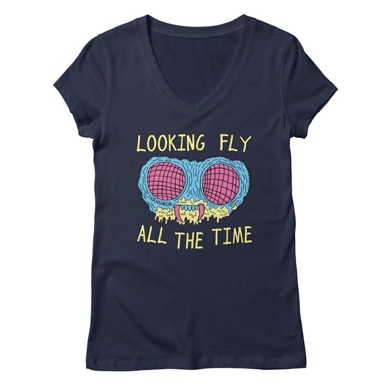 Looking Fly Women's Regular V-Neck by JARHUMOR