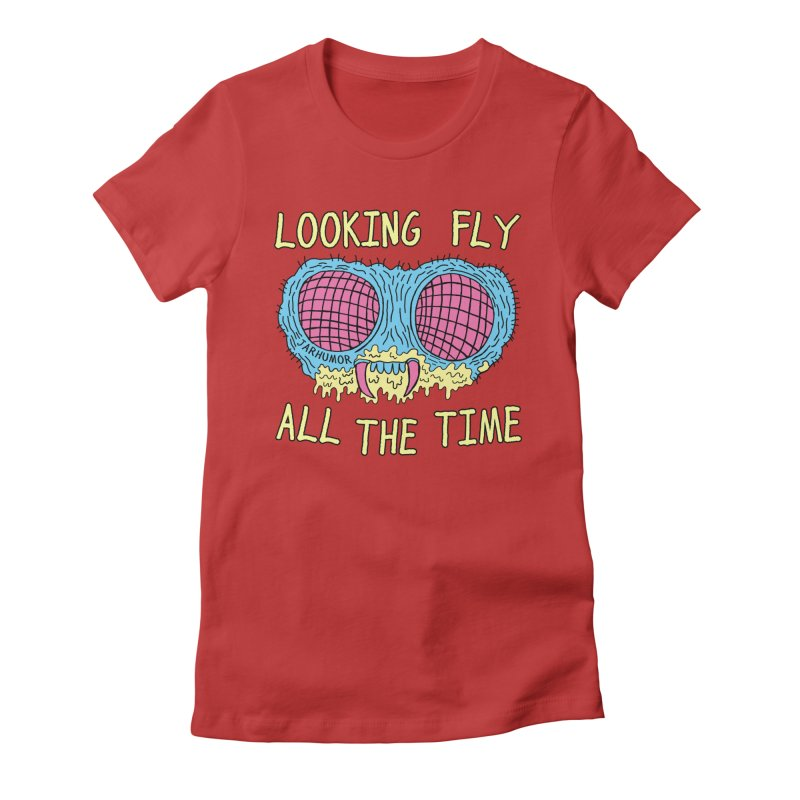 Looking Fly Women's Fitted T-Shirt by JARHUMOR
