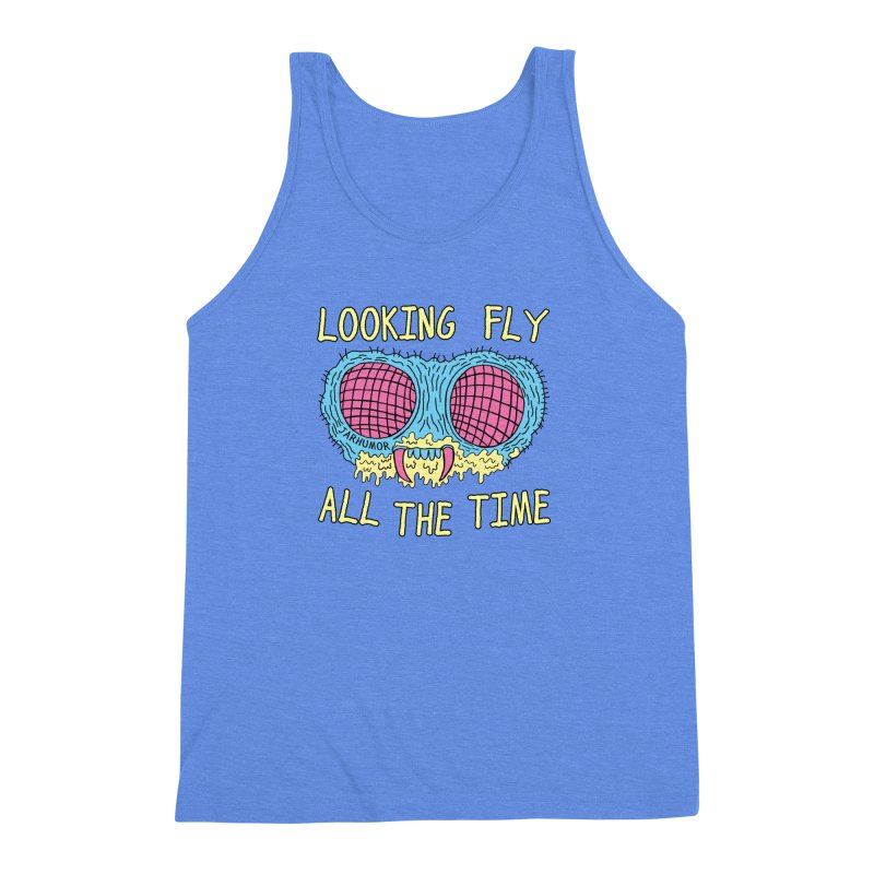 Looking Fly Men's Triblend Tank by James A. Roberson (JARHUMOR)