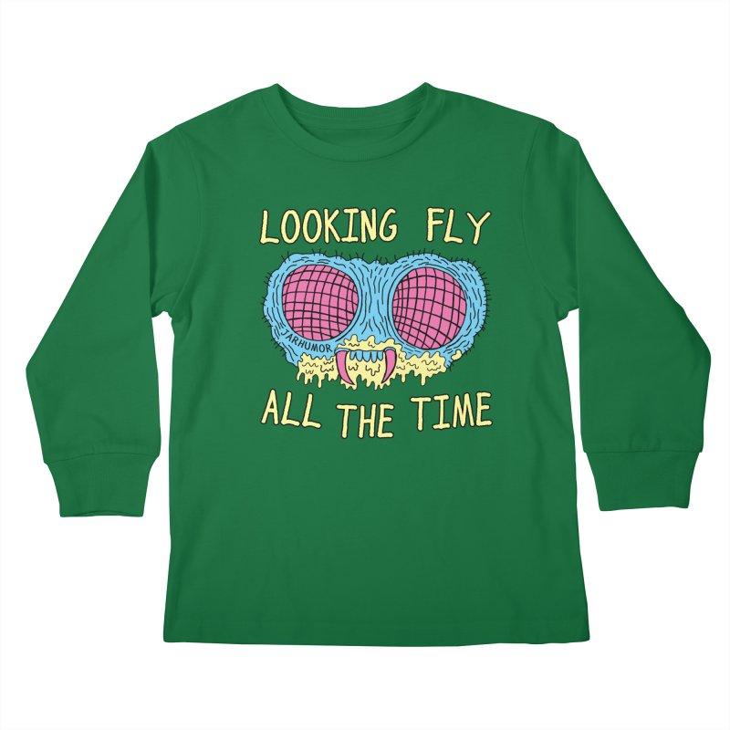 Looking Fly Kids Longsleeve T-Shirt by JARHUMOR