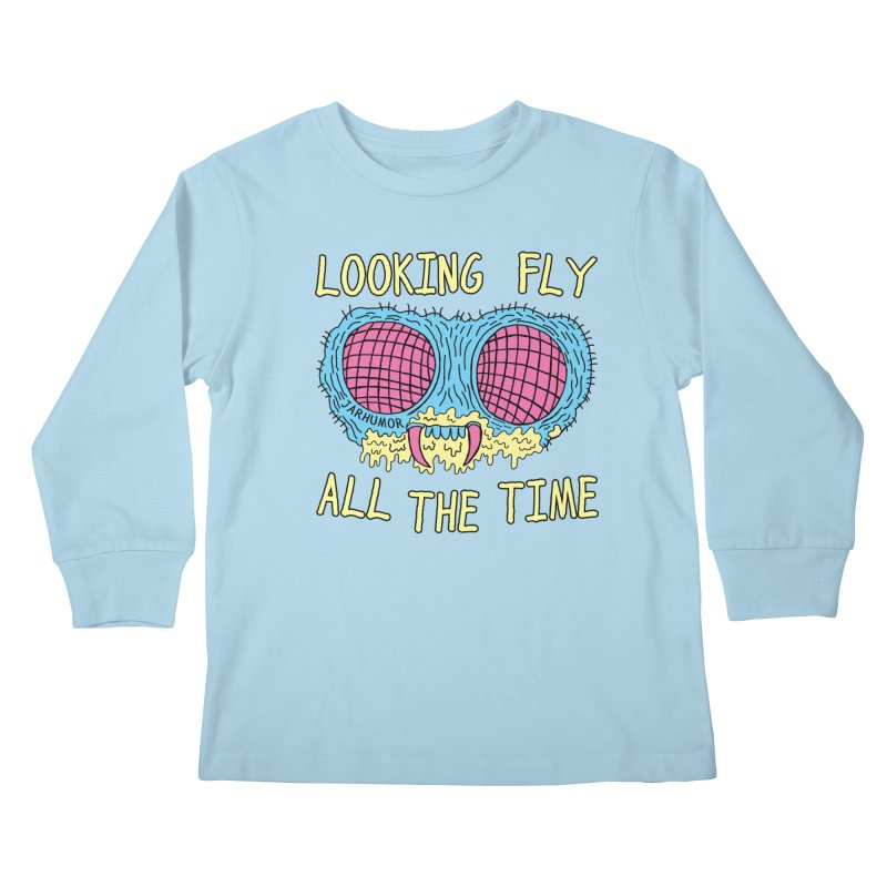 Looking Fly Kids Longsleeve T-Shirt by JARHUMOR