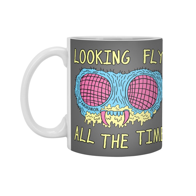 Looking Fly Accessories Mug by JARHUMOR