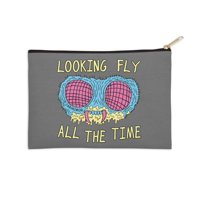 Looking Fly Accessories Zip Pouch by James A. Roberson (JARHUMOR)