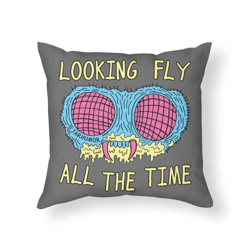 Looking Fly Home Throw Pillow by James A. Roberson (JARHUMOR)