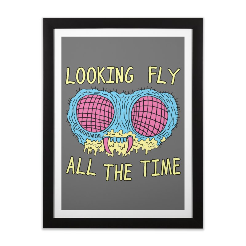 Looking Fly Home Framed Fine Art Print by JARHUMOR