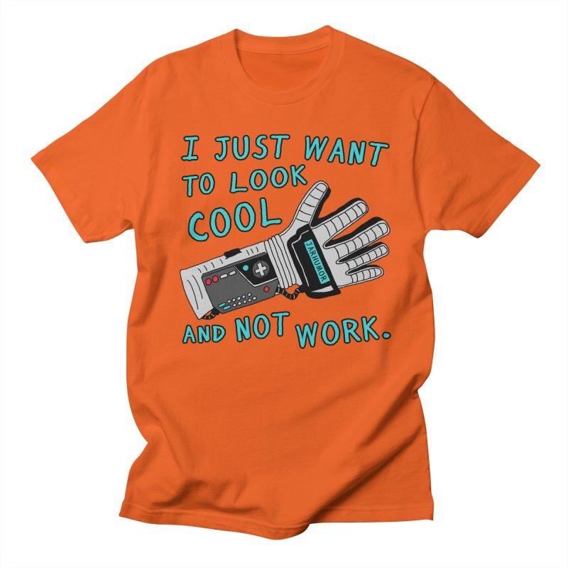 Look Cool Not Work (Power Glove) Men's Regular T-Shirt by JARHUMOR