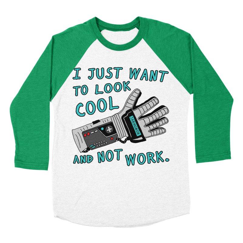 Look Cool Not Work (Power Glove) Women's Baseball Triblend Longsleeve T-Shirt by JARHUMOR