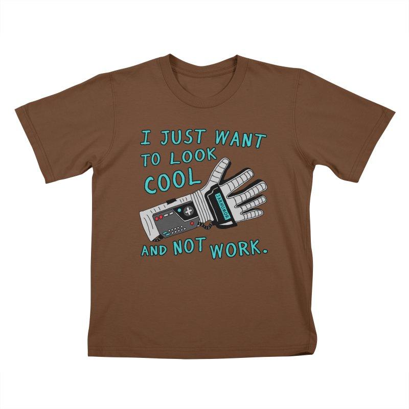 Look Cool Not Work (Power Glove) Kids T-Shirt by JARHUMOR