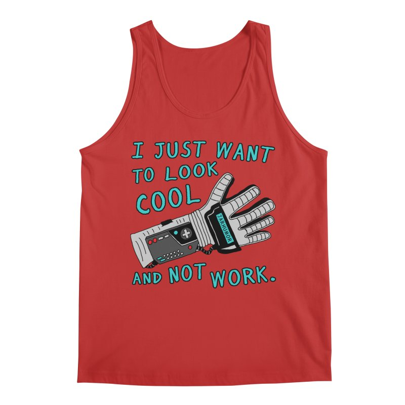 Look Cool Not Work (Power Glove) Men's Regular Tank by JARHUMOR