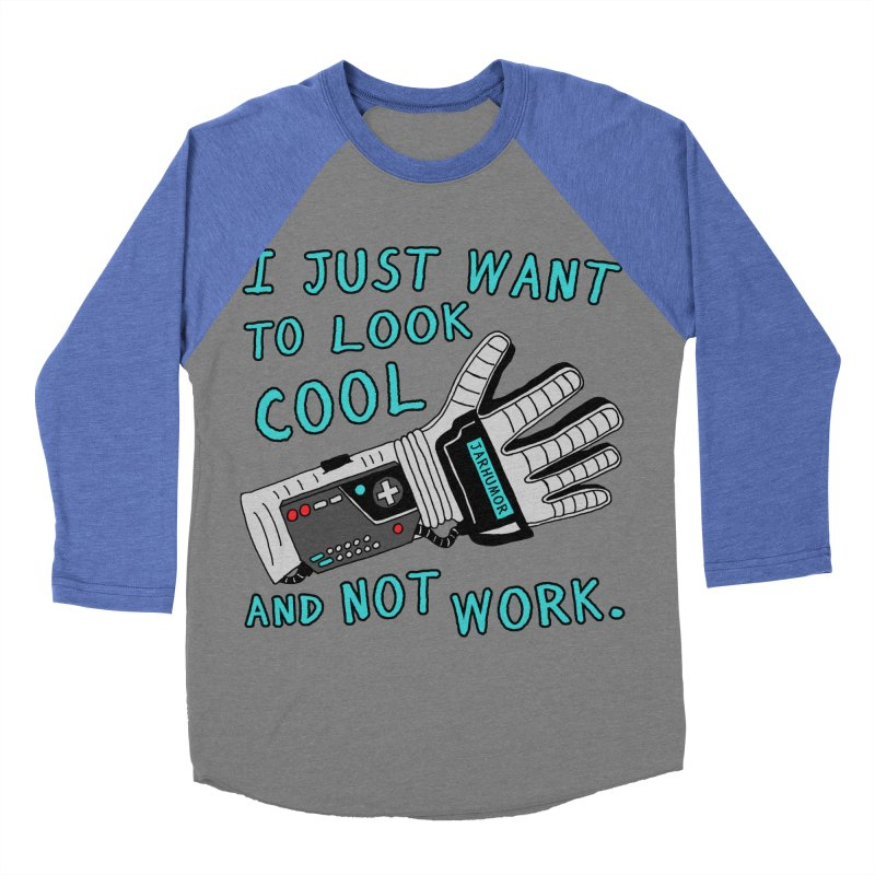 Look Cool Not Work (Power Glove) Women's Baseball Triblend Longsleeve T-Shirt by JARHUMOR
