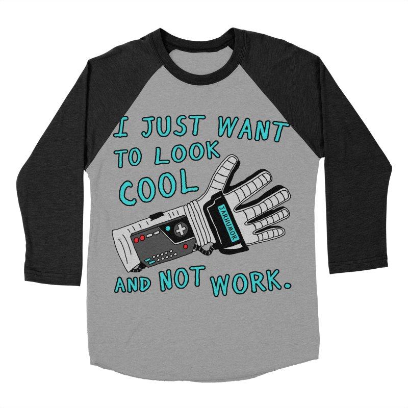 Look Cool Not Work (Power Glove) Men's Baseball Triblend Longsleeve T-Shirt by JARHUMOR